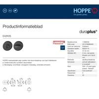 Hoppe Resista WC garnituur rond zwart gesatineerd