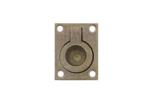 Anneau de trappe Intersteel rectangulaire 65 x 49 mm laiton roulé
