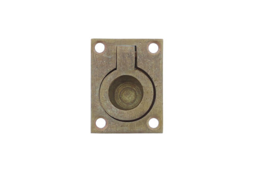 Intersteel Hatch ring rectangular 65 x 49 mm tumbled brass