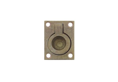 Intersteel Hatch ring rectangular 50 x 39 mm brass tumbled