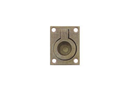 Anneau de trappe Intersteel rectangulaire 41 x 31 mm laiton roulé