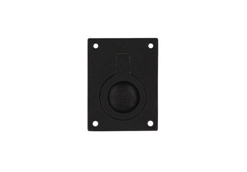 Intersteel Luikring rechthoekig 65 x 49 mm mat zwart