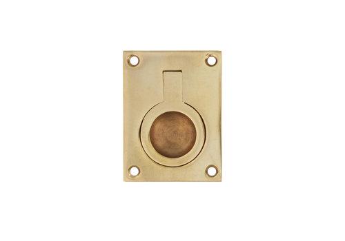 Intersteel Hatch ring rectangular 65 x 49 mm lacquered brass