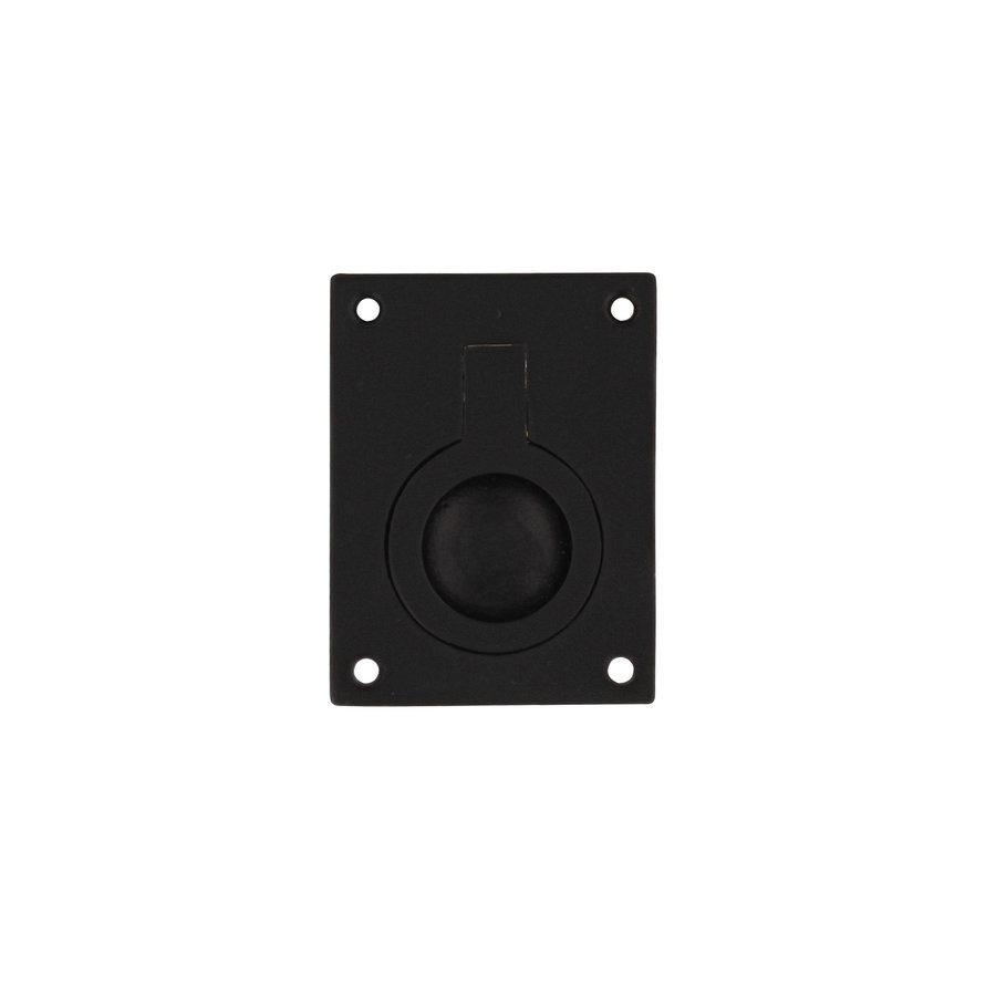 Intersteel Luikring rechthoekig 41 x 31 mm mat zwart