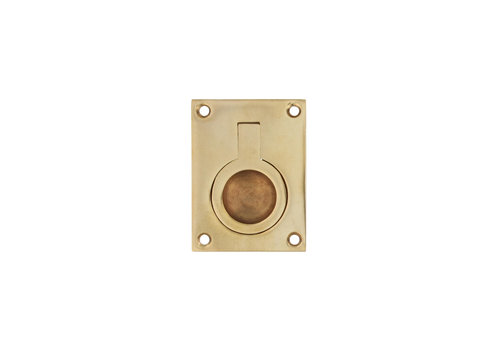 Intersteel Hatch ring rectangular 41 x 31 mm lacquered brass
