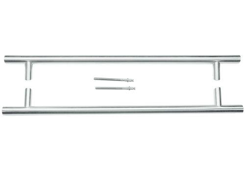 RVS deurgreep ST 32/650/810 paar voor deurdikte >3CM