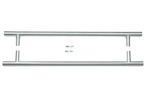 RVS deurgrepen ST 32/650/810 paar voor glas