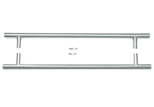 Stainless steel door handles ST 32/650/810 pair for glass