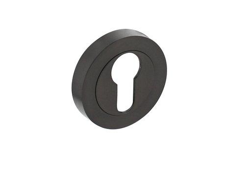 1 Intersteel Rozet met profielcilindergat Ø52x10mm antracietgrijs