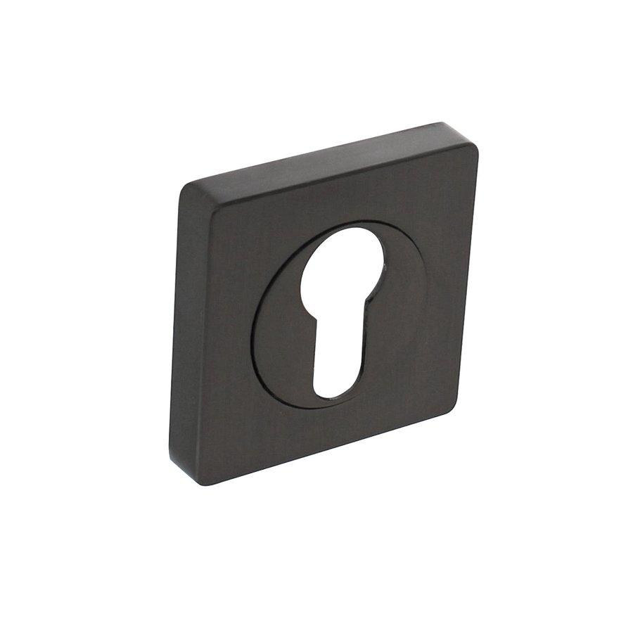 1 Intersteel Rozet met profielcilindergat vierkant antracietgrijs