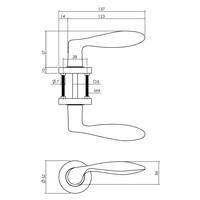 Intersteel Deurkruk George op ronde rozet Ø52x10 mm antracietgrijs
