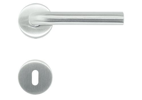 RVS deurklinken Eco L shape 19 mm met sleutelplaatjes