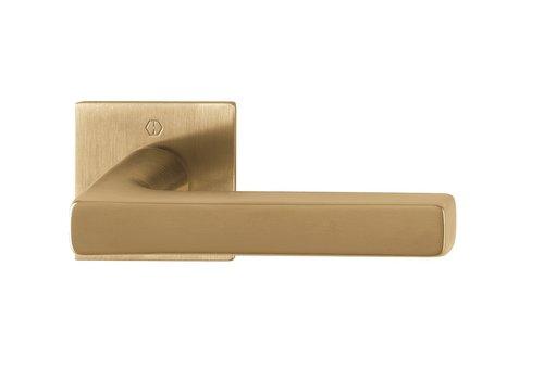 Hoppe deurklinken DALLAS met dunne vierkante rozas (2mm) messing Resista® F78
