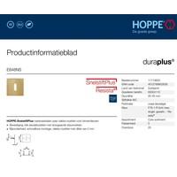 Hoppe Resista dunne sleutelplaatjes vierkant 2mm - Messing gesatineerd F78