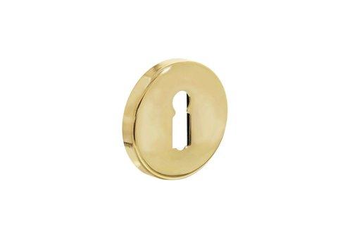1 Intersteel Rozet sleutelgat rond verdekt messing gelakt