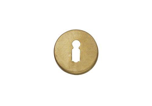 1 Rozet sleutelgat rond messing getrommeld