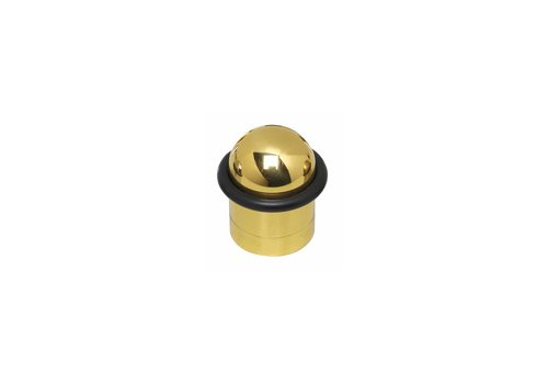 Butée de porte en acier inoxydable avec anneau laqué en laiton