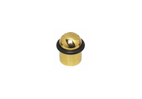 Zwischenstahl-Türanschlag mit messinglackiertem Ring