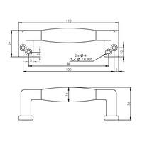 Intersteel Meubelgreep 108 mm recht chroom