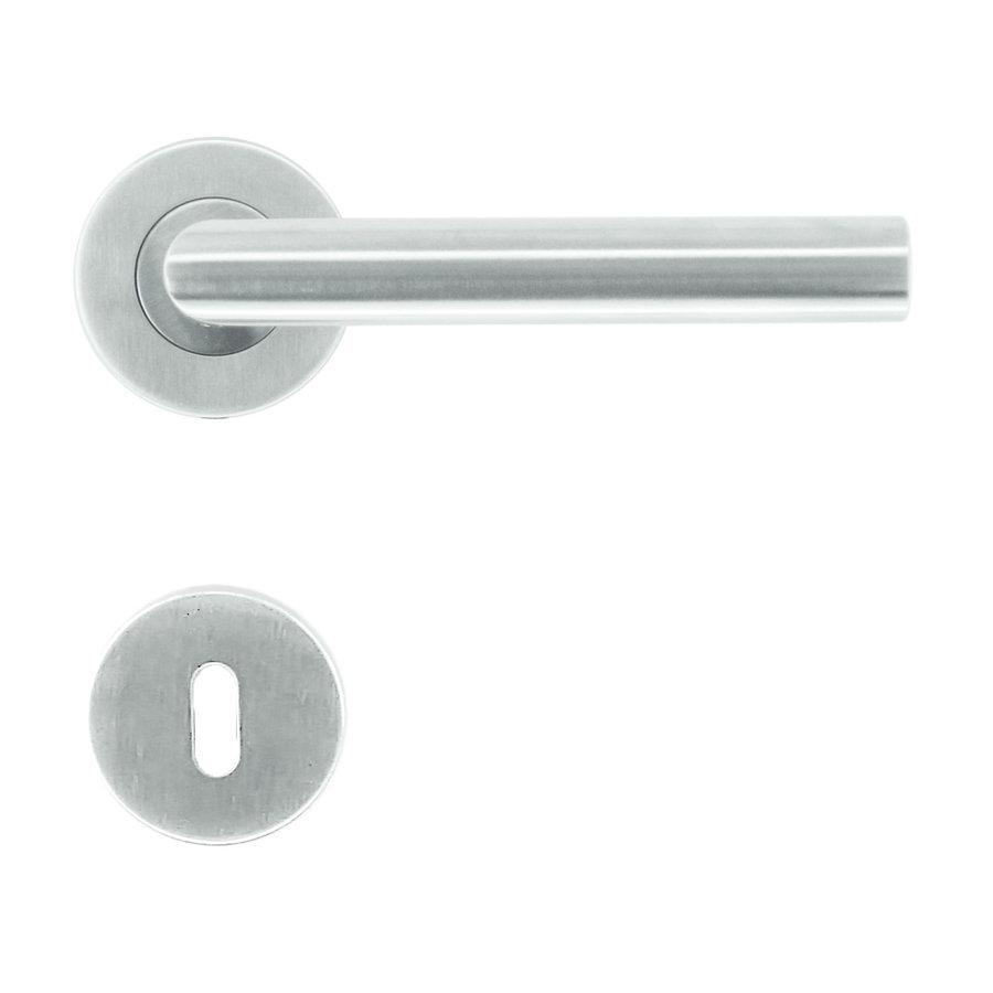 Deurklinken Eco I shape 19 mm met sleutelplaatjes