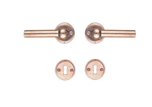Door handles PETANA L + L Rosa with key plates