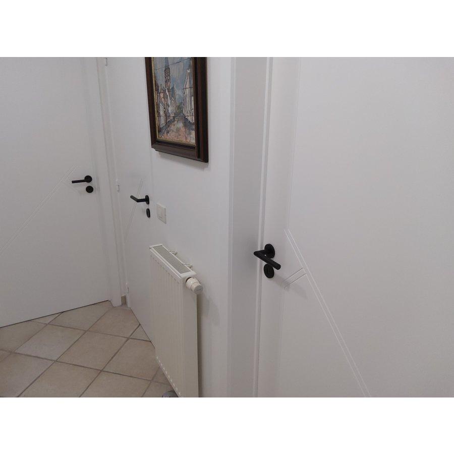Black door handles I Shape 19mm with key plates