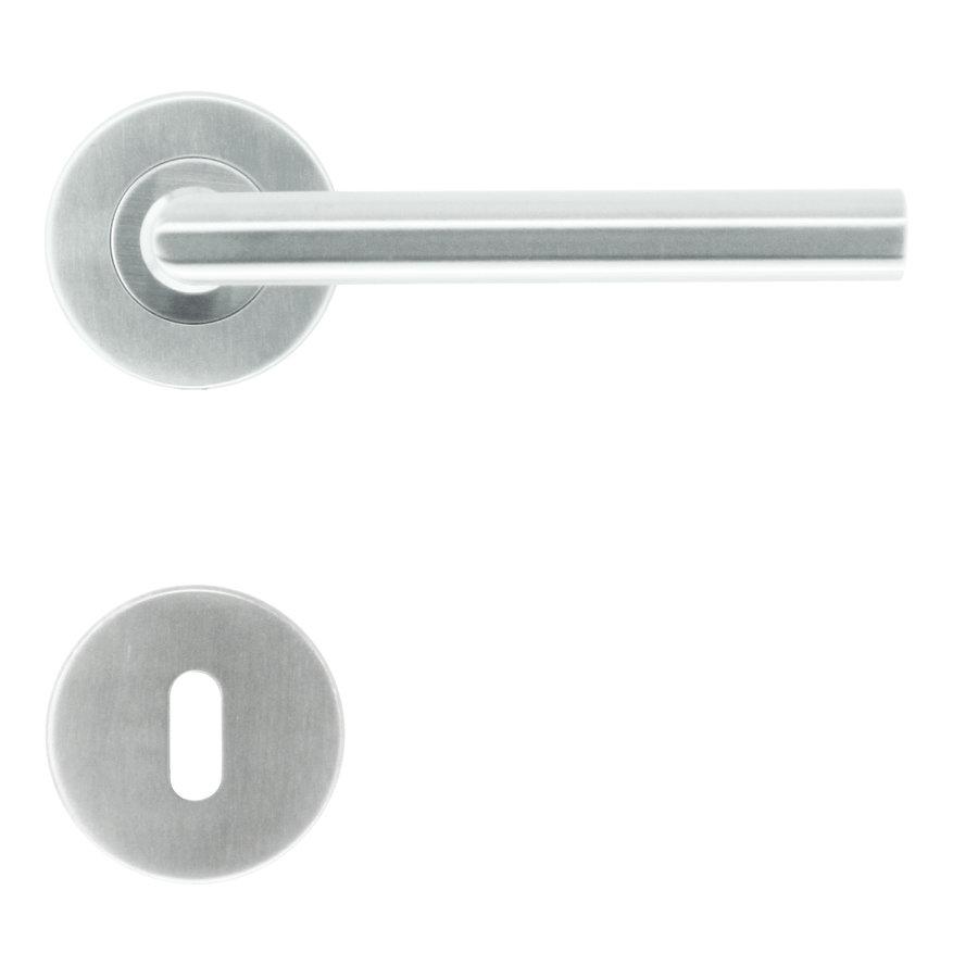 RVS deurklinken Zero I Shape 16 mm met sleutelplaatjes