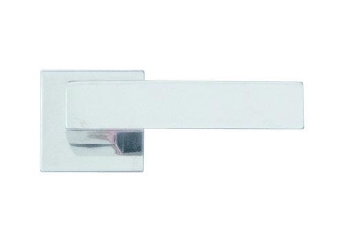 Deurklinken Cubica chrome zonder sleutelplaatjes