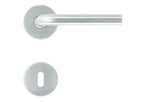 Stainless steel door handles L shape 16 mm with key plates