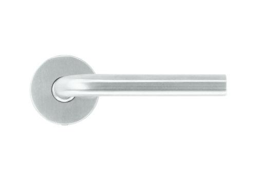 RVS deurklinken L shape 16 mm zonder sleutelplaatjes