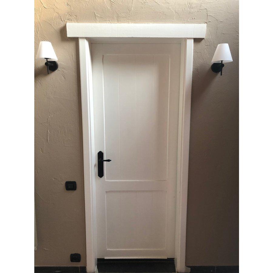 Zwarte deurklinken Lisa op blinde schilden