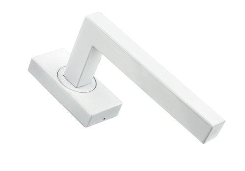 Weißer Fenstergriff Kubic Form