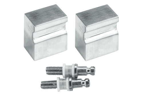 Fixed stainless steel doorknob X-Treme pair for glass
