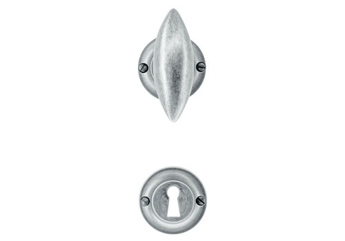 Door handles Olina old silver with key plates