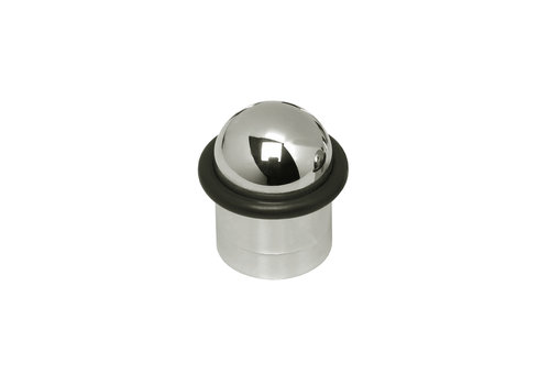 Intersteel Deurstop met rubberen ring in nikkel