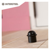 Intersteel Deurstop met ring mat zwart
