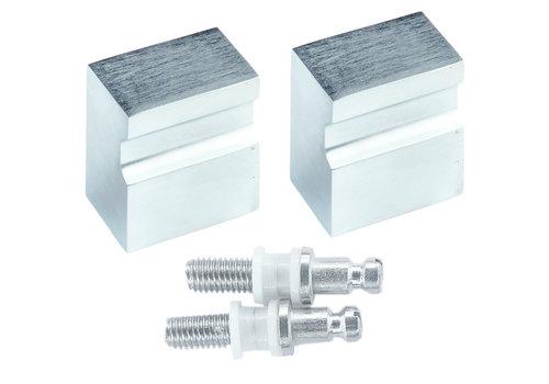 Fixed doorknob X-Treme cromsat pair for glass