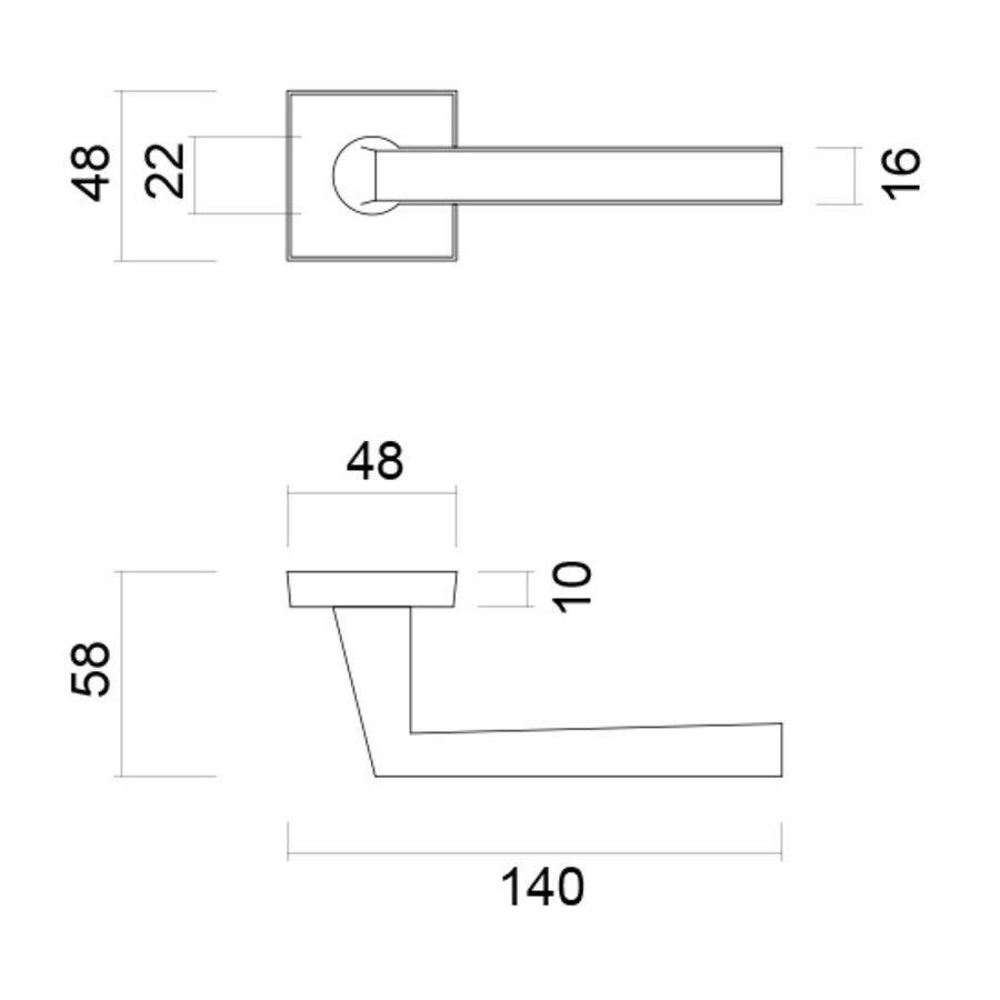 Zwarte deurklinken Luïs met cilinderplaatjes