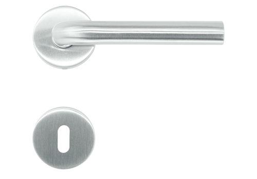 RVS deurklinken flat L-Shape met sleutelplaatjes