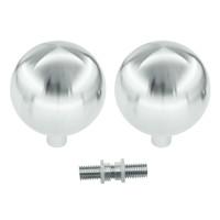 Paar vaste deurknoppen B80 uit massief RVS voor glazen deuren