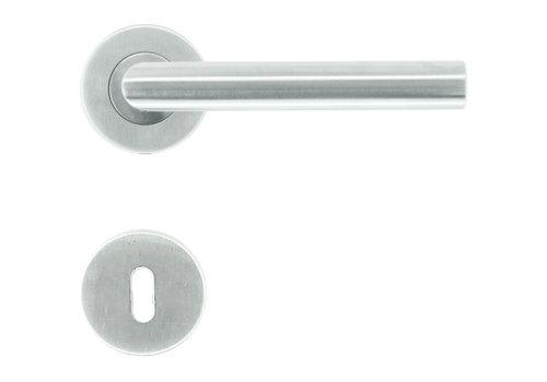 """RVS deurkrukken """"Flat"""" I-Shape met sleutelplaatjes"""