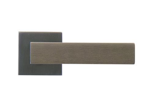 Poignées de porte Cubica Carbon Black sans plaques de clé
