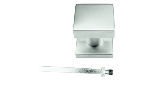 Fixed stainless steel doorknob Carre