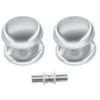 Vaste deurknop 'Top 805'  RVS-look paar voor glas