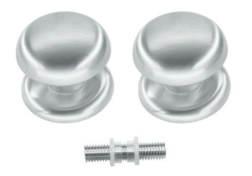 Fixed doorknob 'Top 805' pair for glass