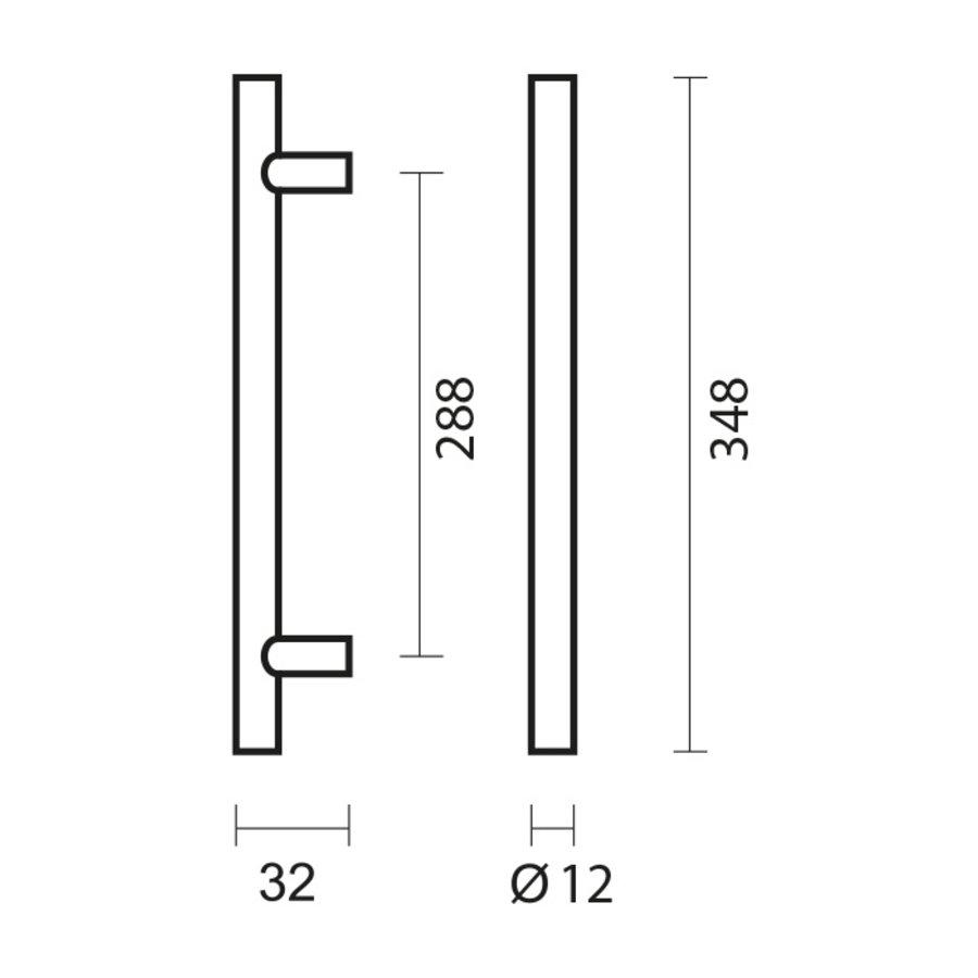 RVS meubelgrepen T 12/288/348