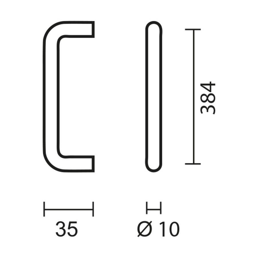 RVS meubelgrepen U 10/384
