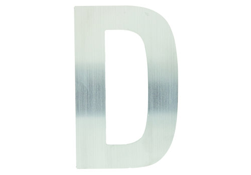 Edelstahl Hausbuchstabe D -130mm