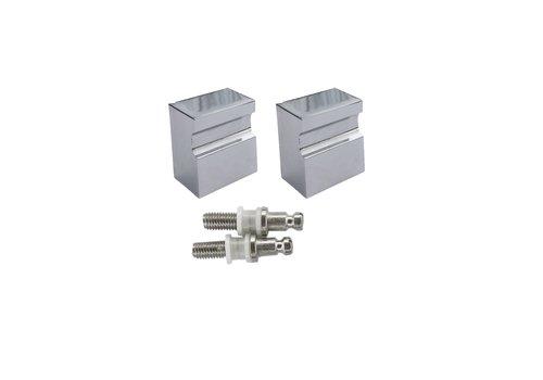 Fixed doorknob X-Treme chrome pair for glass