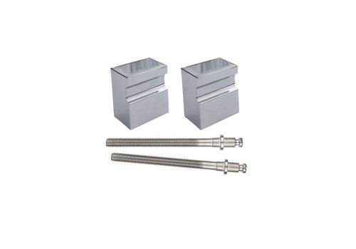 Fixed doorknob X-Treme chrome pair for wood